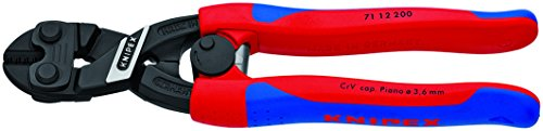 KNIPEX Tools - CoBolt Compact Bolt Cutters With Spring, Multi-Component (7112200SBA)