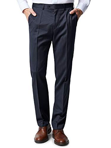 Walbusch Herren Nadelstreifen Anzug Hose einfarbig Marine 28