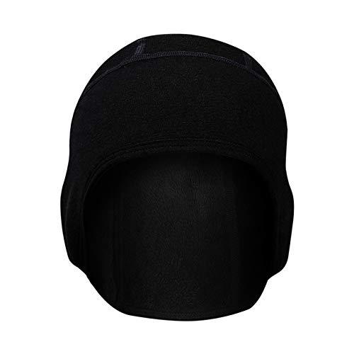 Panegy Fahrrad Mütze Gefütterte Helm-Unterziehmütze Outdoor-Sportmütze Soft-Cap Skull Cap zum Radfahren Laufen Motorradfahren Skifahren Schwarz