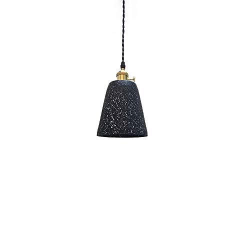 KAIKEA Estilo Industrial Lámpara residencial Lámpara Colgante Retro Europa del Norte Creatividad Diseñador Light Fixtur Cemento Negro Bar Junto a la Cama Restaurante Combinación de candelabro Largo