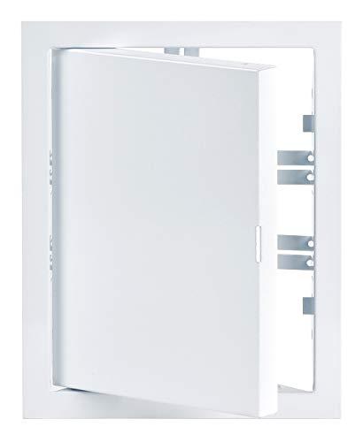 20x15 cm Weiß Revisionsklappe Revisionstür Revision Stahlblech (200x150 mm)