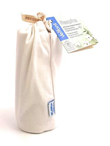 Velfont Funda de almohada/funda de cojín Respira con cremallera, tamaño 50 x 80 cm, impermeable e hiper-transpirable, 100% algodón orgánico