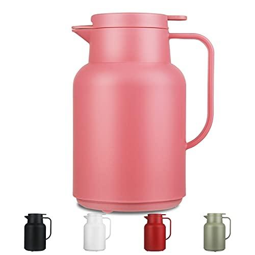 SHBRIFA Caraffa Termica da 1,5 Litri con Inserto in Vetro borosilicato a Doppia Parete, Ideale Come caffettiera o teiera, per la casa o L'Ufficio