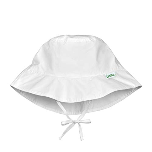 i play. by green sprouts unisex-baby Bucket Sun Protection Hat,White,0/6mo