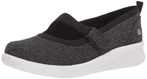 Clarks Women's Sillian 2.0 Soul Mary Jane Flat, Black Textile Combi, 100 M US