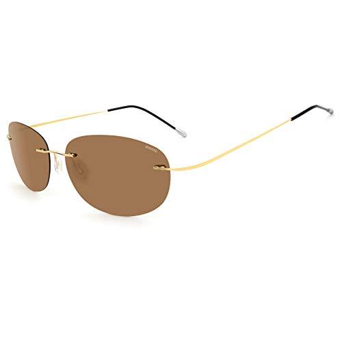 RONSOU Gafas de Sol Polarizadas a La Moda Coloridas y Sin Mo