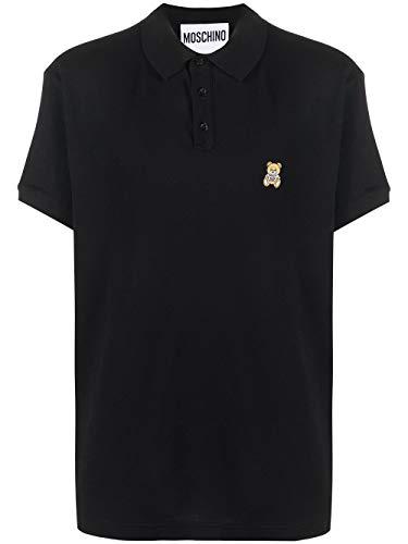 Moschino Luxury Fashion Herren A120370421555 Schwarz Baumwolle Poloshirt   Herbst Winter 20