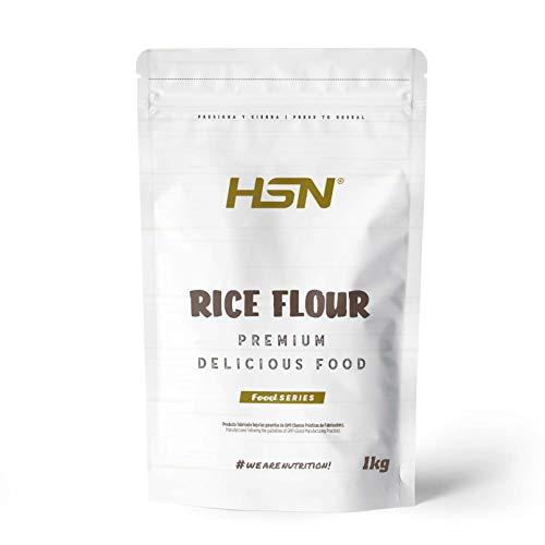 Harina de Arroz de HSN   Rice Flour   Energía Saludable 100% Natural   Formato de Finísima Textura en Polvo   Vegana, Sin Gluten, Sin Lactosa, Sin Soja, Sin Sabor, 1 Kg