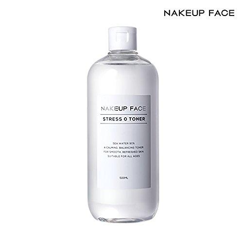 Nakeup Face Stress Zero Toner 16.9 Oz, EWG Green Rating, Ethanol Free, pH 5.0 Low Acidity, 90% Sea Water, Moisturizer, 500ml