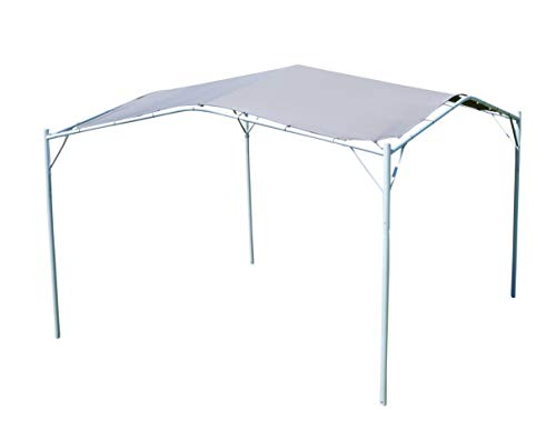 ASS Eleganter Gartenpavillon Pavillon Sonnensegel 3,5x3,5m Meter, 12,25m², Dach aus Polyester UV50+ Modell: Ibiza von