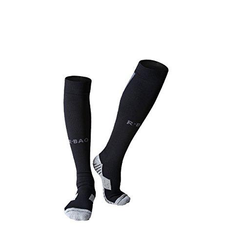 IKuaFly Chaussettes de Compression Courir Chaussettes (Unisexe pour Les Femmes et Les Hommes) Cyclisme/Randonnée/Formation (Noir)