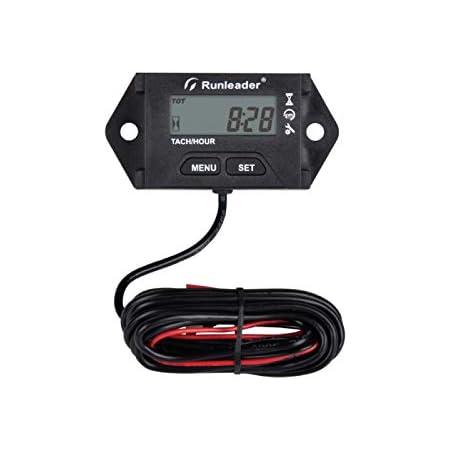 Runleader Digitaler Betriebsstundenzähler Wartungserinnerung Einstellbare Anfangsstunden Verwendung Für Ztr Rasenmähergenerator Marine Atv Motor Und Gasbetriebene Geräte Baumarkt