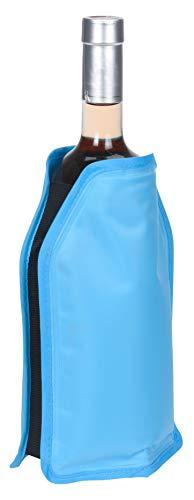 MIK Funshopping Kühlmanschette, Kühl-Element für Flaschen, Kühl-Akku Flaschenkühler (Blau)