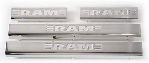 4 Pcs Edelstahl AutotüR-Schwellen Aufkleber für Dodge Ram 1500 2010-2020, Schutz Kick-Platten ZubehöR Anti Scratch Sills Threshold Bar Dekorieren