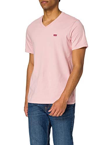 Levi's Orig HM Vneck T-Shirt, Powder Pink, S Homme