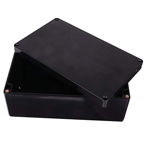 ibasenice Caja Electrónica a Prueba de Agua Caja de Proyecto de Plástico Caja de Conexiones de Energía Caja de Cable de Caja Negra para Patio de Jardín Al Aire Libre