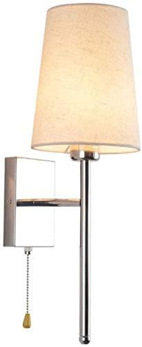 YONGYONGCHONG Lámpara de Pared Lámpara de Tela Moderna de Pared con Interruptor Lámparas de Interior y linternas Sala de Estar montada en Plana Dormitorio Corredor de Cama iluminación