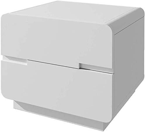 File cabinets Mesitas de noche para el hogar, de madera maciza, con cajones, doble cajón, para sala de estar, mesa auxiliar (color: blanco)