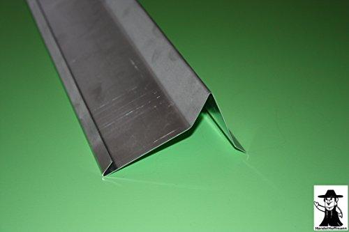 Ortgangblech 2 m lang Aluminium Natur 0,8 mm (mittel)