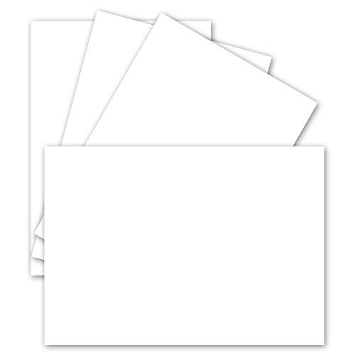50 Stück DIN A6 Einzelkarten Matt- Hochweiss - 10,5 x 14,8 cm - 250 g/m² - sehr formstabil - für Drucker geeignet Ideal für Grußkarten und Einladungen - Gustav NEUSER