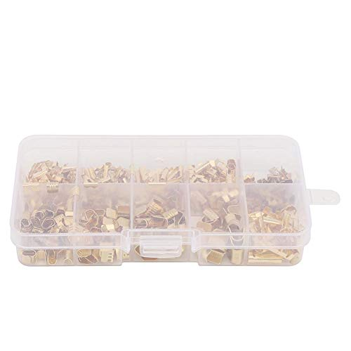 445pcs U Shape Copper Ring Terminals Crimp Kit Car Amplifier Power-Cable Terminals 0.5-1.5mm/1.5-3.0mm