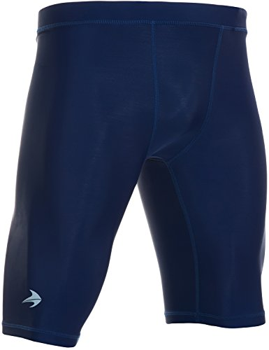 CompressionZ Men's Compression Shorts - Athletic Running & Sports Underwear (Navy, M)