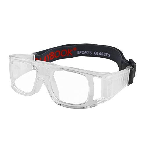 occhiali basket Andux Pallacanestro Calcio Calcio Sport Occhiali protettivi Occhiali degli Occhi Occhiali di Sicurezza LQYJ-01 (Bianca)