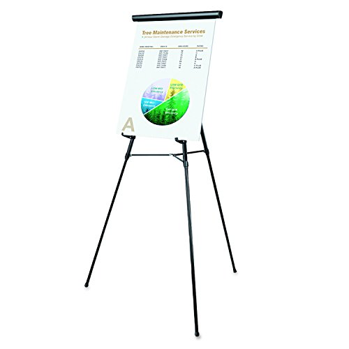 Universal 43150 3-Leg Telescoping Easel with Pad Retainer, Adjusts 34