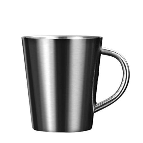 LIERSI Taza De Café Doble De Acero Inoxidable Taza Taza De Té Anti-Scald Water Taza De Agua para Niños Té, Taza De Café,B