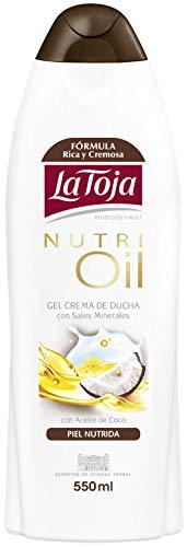 La Toja - Gel Crema de ducha Nutri Oil con aceite de coco - 6 unidades de 550ml