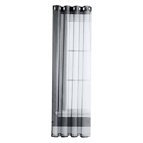 Gazechimp Pannelli per Tende Trasparenti Grigie Passacavo Antipolvere Patio Drape Pergola Piscina Corridoio Sun Room Trattamenti per finestre - 132x183 cm