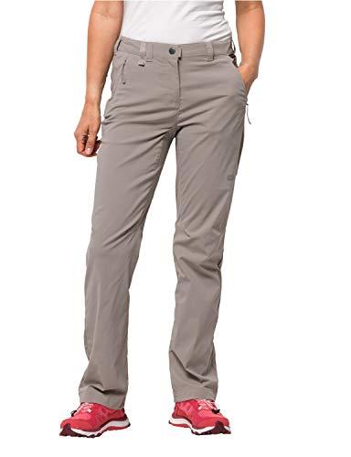 Jack Wolfskin Damen Activate Light Pants Women Wasserabweisend Elastisch Atmungsaktiv Windabweisend Outdoor Softshell, Wanderhose Hose, Moon Rock, 36