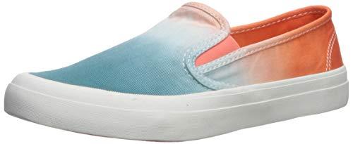 Sperry Women's Seaside Dip Dye Sneaker, Orange/Blue, 7.5