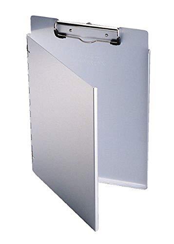 Durable 339123 Portablocco A4 L, Alluminio Riciclato, Molla Fermafogli, Apertura Laterale, 230 x 325 x 9 mm, Argento