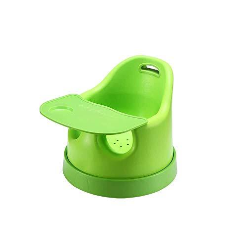 LQBDJPYS Hochstuhl Grüner Kinderessstuhl Home Multifunktions-Klappsitz mit Tablett und Roller