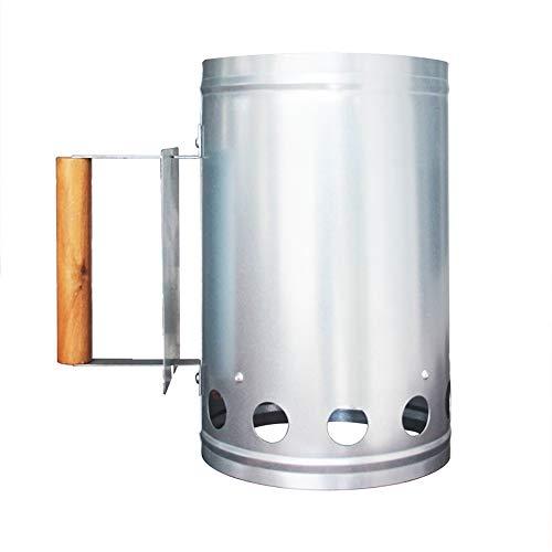 Encendedor de Chimenea y Barbacoa, con Mango de Seguridad Arrancador de carbón rápido Gran Capacidad Resistencia al óxido Parrilla Barbacoa Barbacoa Chimenea Encendedor Cocina al Aire Libre Camping