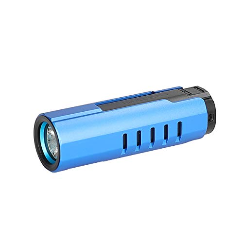 IMALENT LD70 EDC Linterna de bolsillo LED recargable de alto rendimiento 4000 lúmenes con CREE XHP70.2 LED, apto para camping y senderismo (azul)