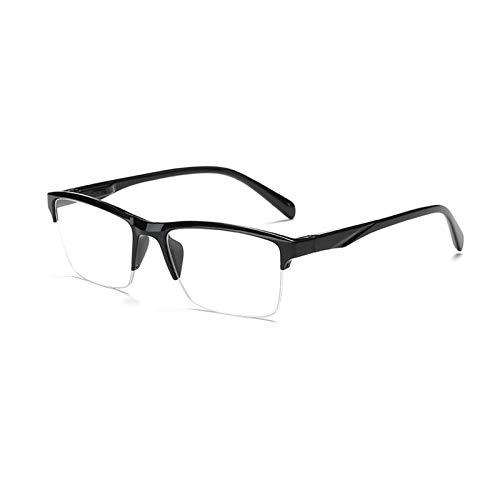 Suertree Halbrand Lesebrille PC Rahmen Nylonfaden Harzlinsen unisex für Herren und Damen Augenoptik Sehhilfe Lesehilfe Brille ZL7003 +4.00 PC1