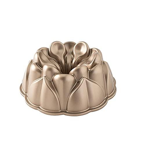 Nordic Ware Magnolia Cast Aluminum Bundt Pan, 10 Cup, Toffee