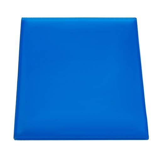 KKmoon Cuscinetto Gel per Seggiolino Moto, Comodo Cuscino Soft Cool Mat Assorbimento degli Urti Cuscino Sedile Modificato, Blu (25 x 25 x 2 cm)