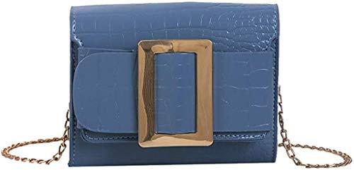 Suge Frauen Tragetaschen Versatile Einfache Schultertasche Personality Stein-Muster Kurier-Beutel PU-Leder-Quaste Umhängetasche Tote Handtasche (Color : Blue, Size : 17 * 14cm)