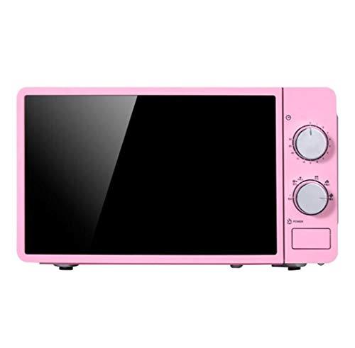 LJXWH Mikrowelle, zu Hause Multi-Funktions-Heizung, 20L mechanischer Umluftofen, stille heiße Reiskocher for Küche/Restaurant/Hotel/Büro/Krankenhaus (Color : Pink)