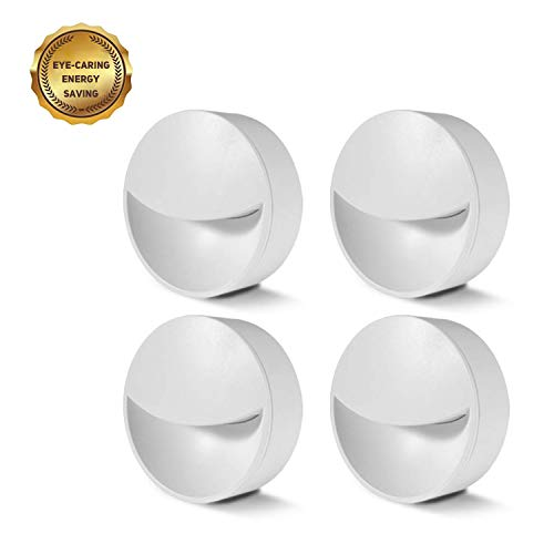 LED Night Lights with Auto Dusk to Dawn Sensor, Light Sensor Wall Nightlight Warm White for Bedroom, Bathroom, Kitchen, Hallway, Stairs, 0.2W Energy Efficient, 4-Pack White