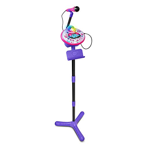 VTech Kidi Star Karaoke Machine, Pink/Purple, Great Gift For Kids, Toddlers, Toy for Boys and Girls, Ages 5, 6, 7, 8, 9