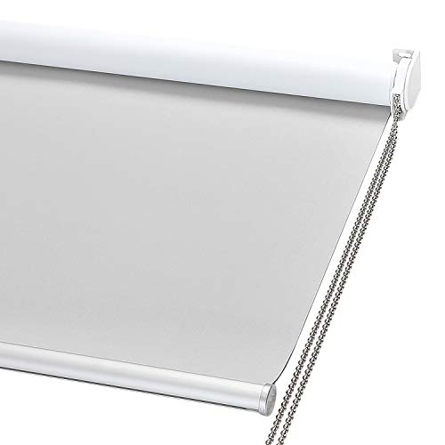 ChrisDowa 100% Blackout Roller Shade, Window Blind with Thermal Insulated, UV Protection Fabric....