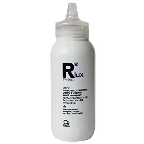 R*System Lux - Fluido Ricostruzione Corpo e Volume - Trattamento per Capelli Danneggiati - Protettivo e Ristrutturante per Capelli Deboli e Sfibrati - Con Cheratina e Collagene - 150 ml