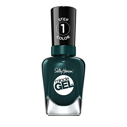 Sally Hansen Miracle Gel Smalto per Unghie, 676 Jealous Boyfriend, Verde scuro, 15 G