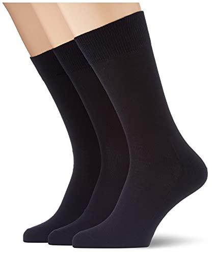 FALKE Herren Family 3-Pack M SO Socken, Schwarz (Black 3000), 43-46 (UK 8.5-11 Ι US 9.5-12) (3er Pack)