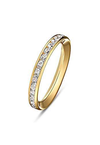 CHRIST Gold Damen-Damenring 375er Gelbgold 0 Zirkonia 56 Gold 32004384