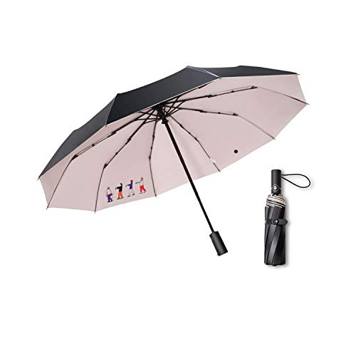 Paraguas de doble propósito con sol y lluvia completamente automático con tres paraguas plegable